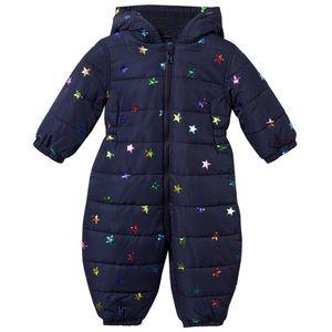 Stella McCartney Kids Navy Star Foil Snowsuit 9M